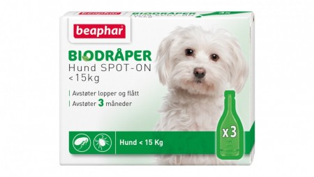 Beaphar Bio spot on hund <15 kg med 3 pipetter